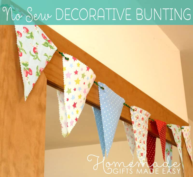 No-sew bunting flags