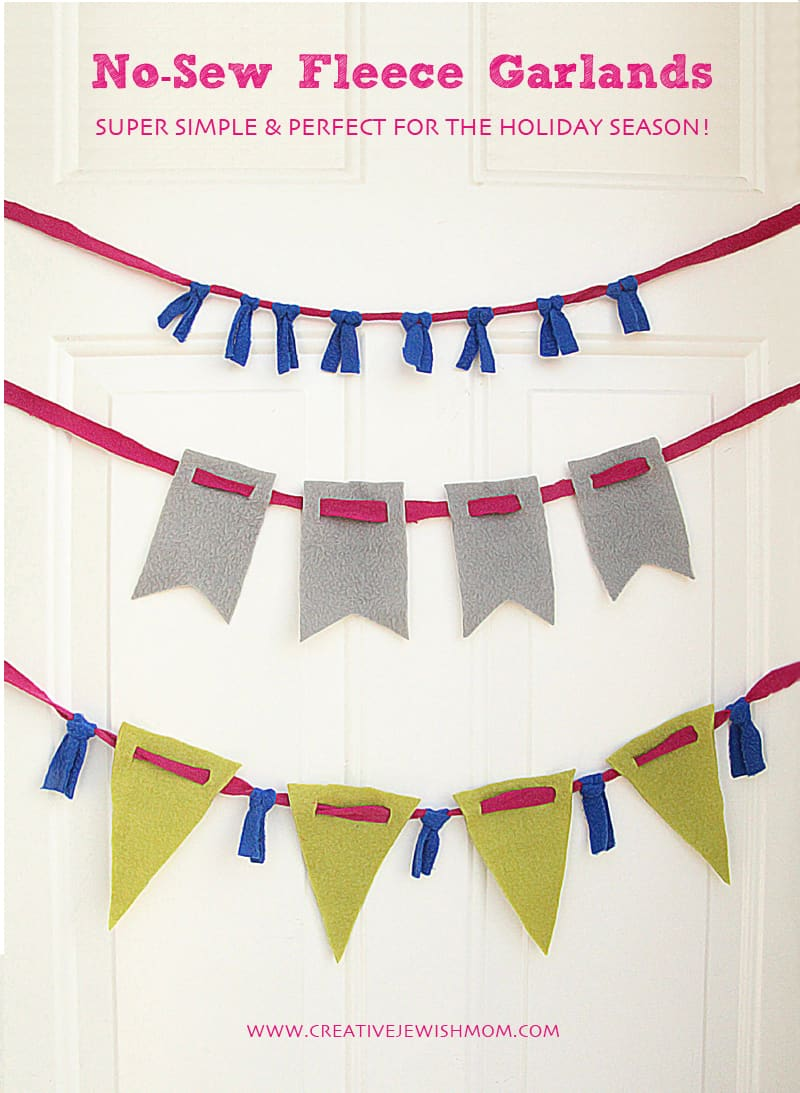 No-sew fleece garlands