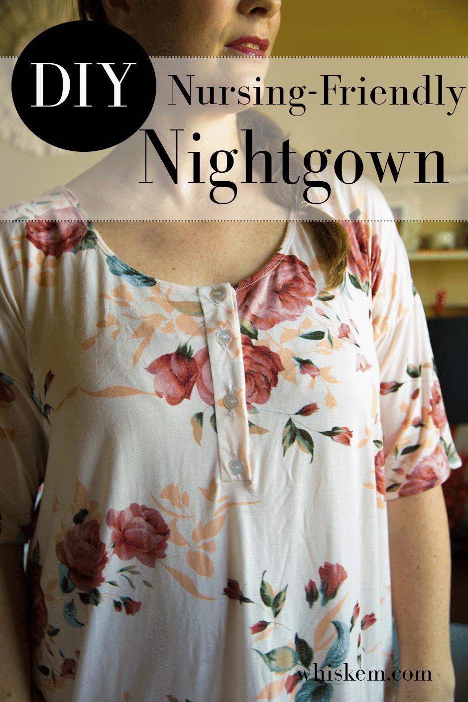 Nursing friendly nightgown