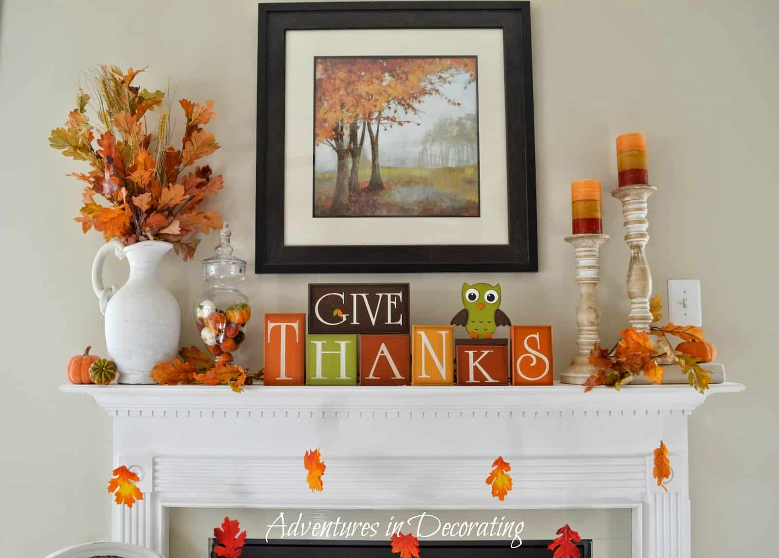 Seasonal Change In Decor 15 Cute Fall Projects For Your Mantel