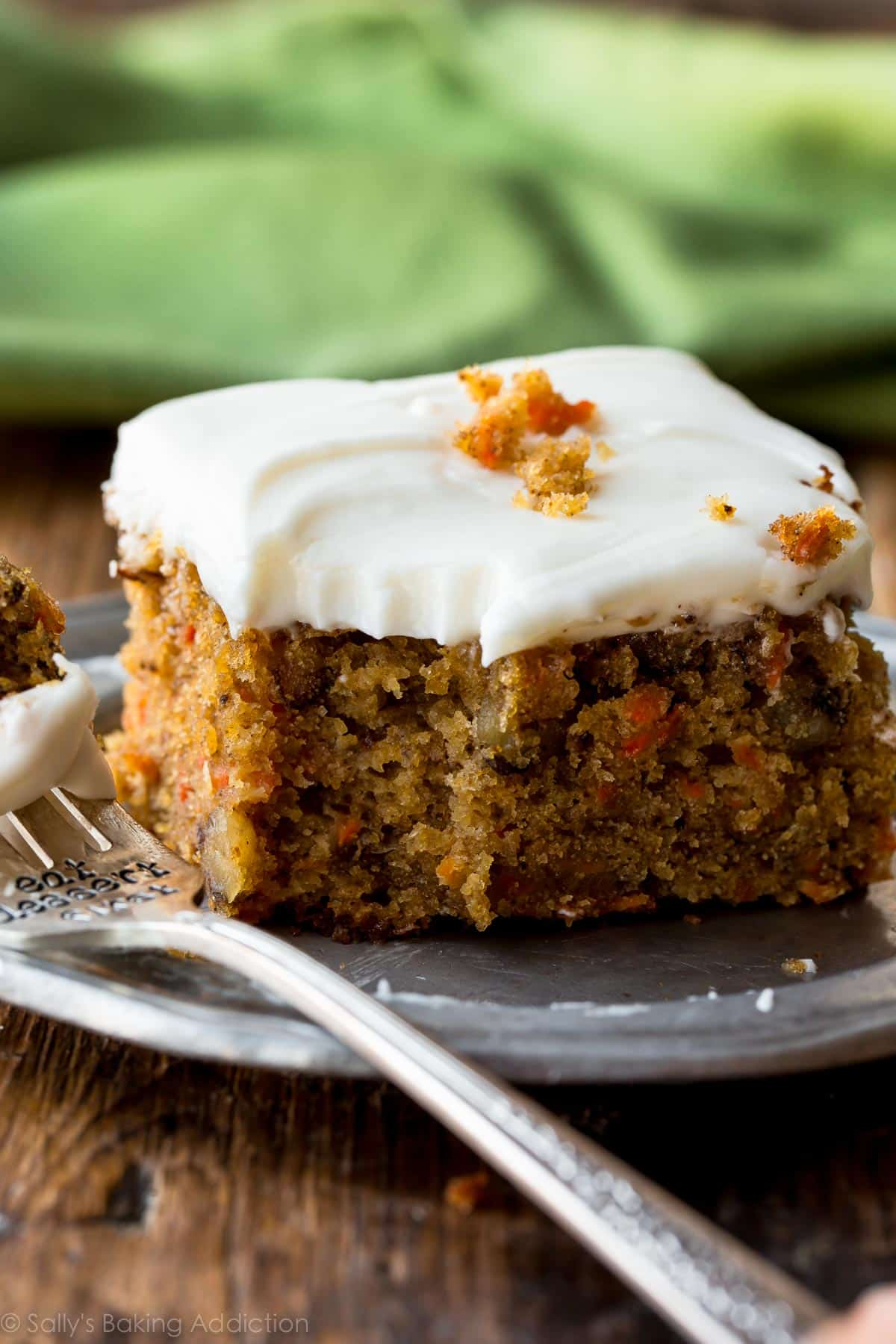 Pineapple carrot cake with cream cheese icing
