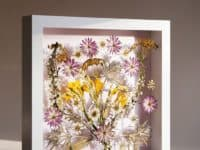 Pressed flower shadow box 200x150 15 Dried Flower Crafts that Make Great Fall Decor