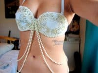 Pretty applique and pearls bra 200x150 15 Creative Ways to Make or Alter Bras