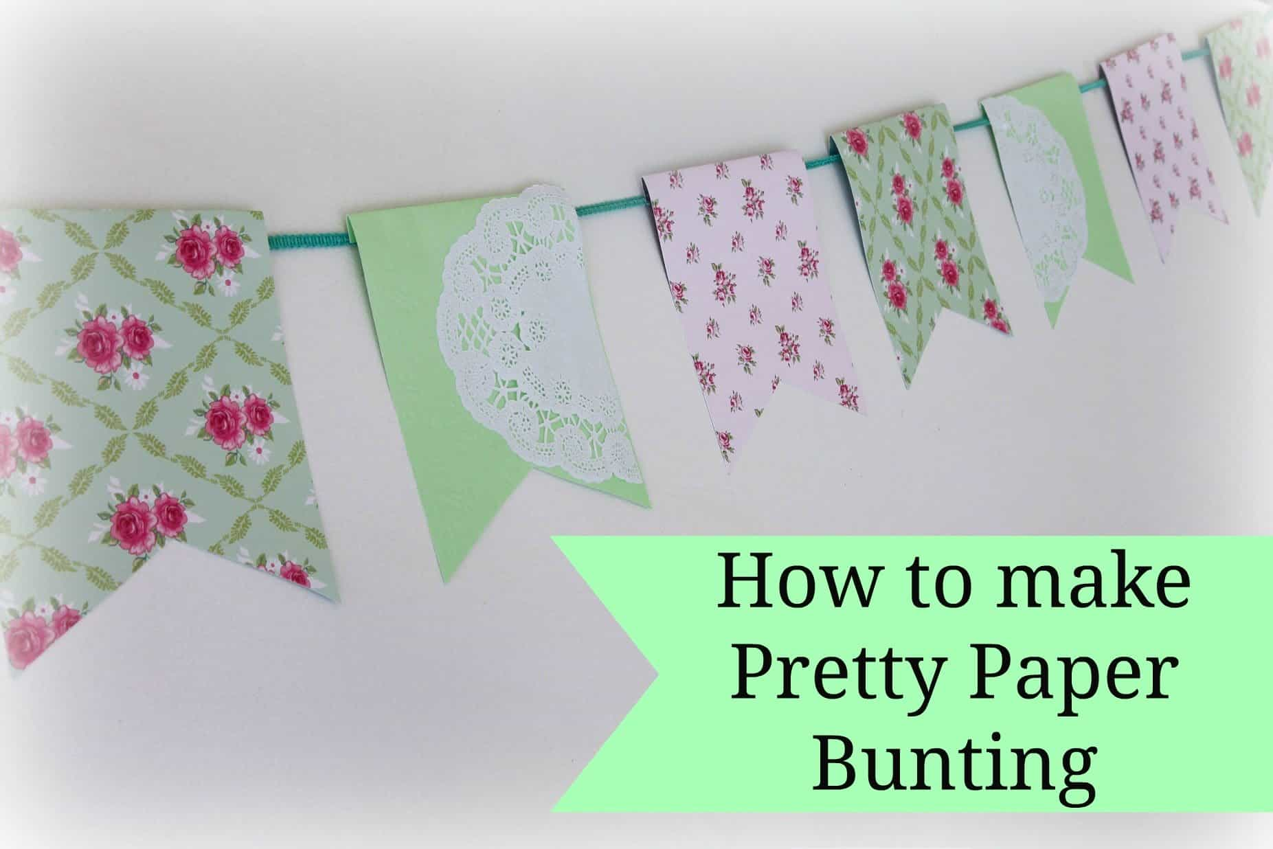 Pretty paper bunting