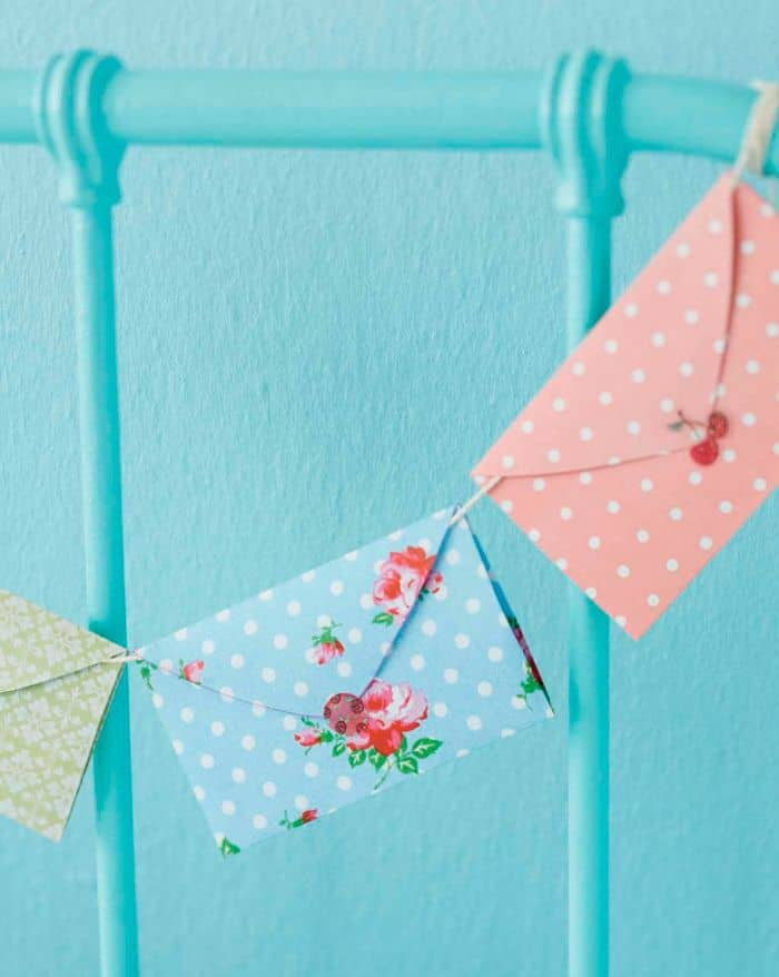 Pretty paper envelope bunting
