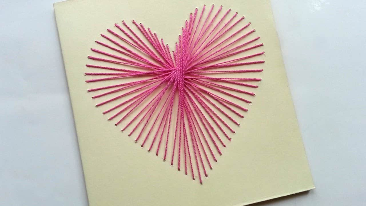 Pretty string art card