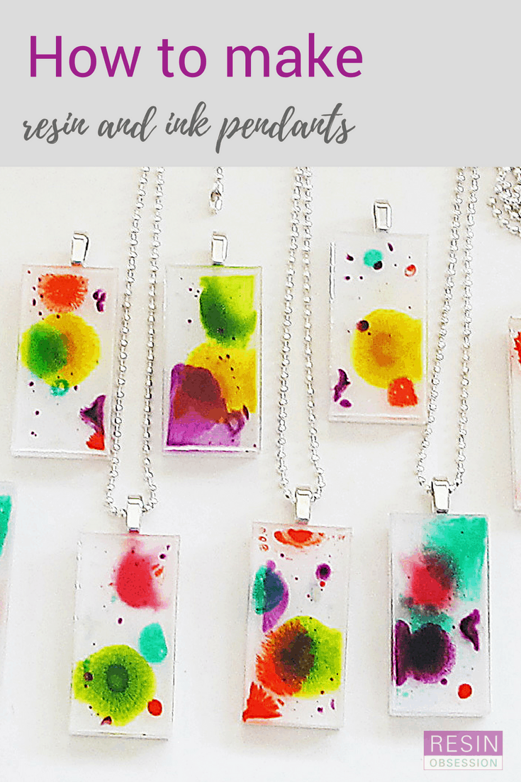 Resin alcohol ink pendants