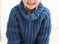 Roll neck jumper vintage pattern 200x150 Crafted with Cozy Love: 15 Fall Knitting Projects for Little Boys