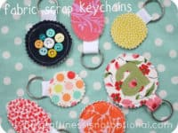 Scrap fabric keychains 200x150 Starting Early: 15 Easy Sewing Crafts for Kids