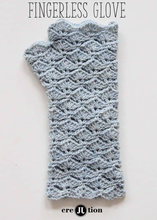 Seashell inspired fingerless gloves