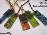 Shrinky dinks and alcohol ink pendants 200x150 Chic Colorful Style Statement: Best DIY Alcohol Ink Jewelry