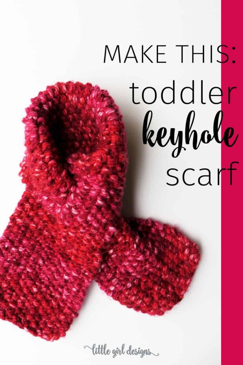 Toddler keyhole scarf