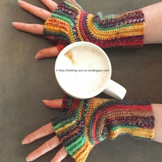 15 Crocheted Fingerless Mitten Patterns for Fall and Beyond