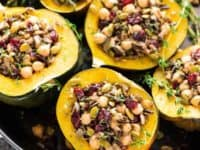 Acorn squash stuffed with wild rice cranberry mushroom and chickpeas 200x150 Enjoying the Last of Fall: Mouthwatering Recipes for Squash Lovers
