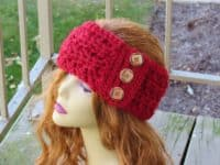 Angelina ear warmer 200x150 Cozy and Stylish 15 Crocheted Ear Warmer and Headband Patterns