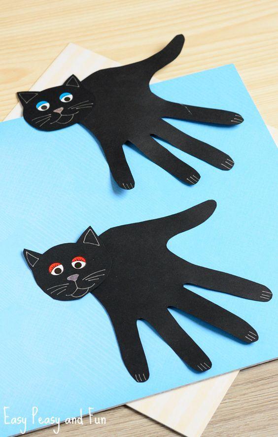 Black cat handprints