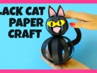 Black cat made of paper strip balls 200x150 Love for your Feline Friend: Awesome Black Cat Themed DIY Projects