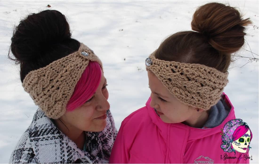 Braided glam cable ear warmer