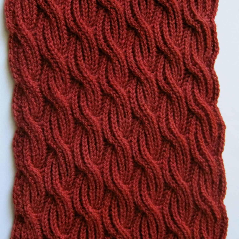 Brioche Cabled Turtleneck scarf