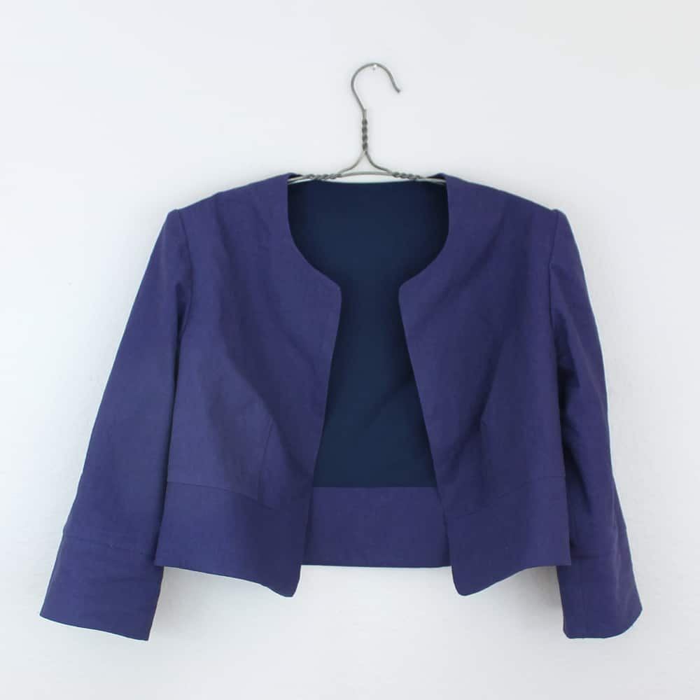Business casual cropped jacket