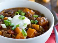Butternut squash chilli with beef 200x150 A Bit of Heat: Delicious Homemade Chilli Recipes for Fall!