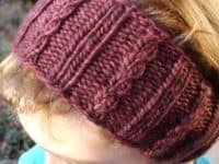 Cable rib ear warmer 200x150 Homemade Coziness: Smart Knitted Ear Warmer and Headband Patterns
