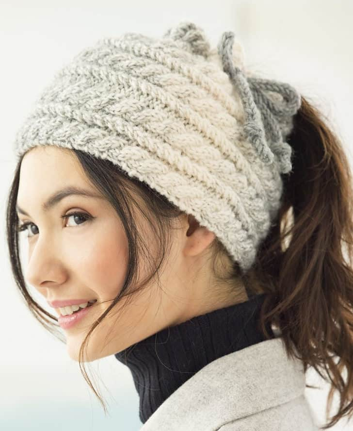 Finding Your Winter Fashion  Best Knitted Messy Bun Hat Patterns 84840f53c6c