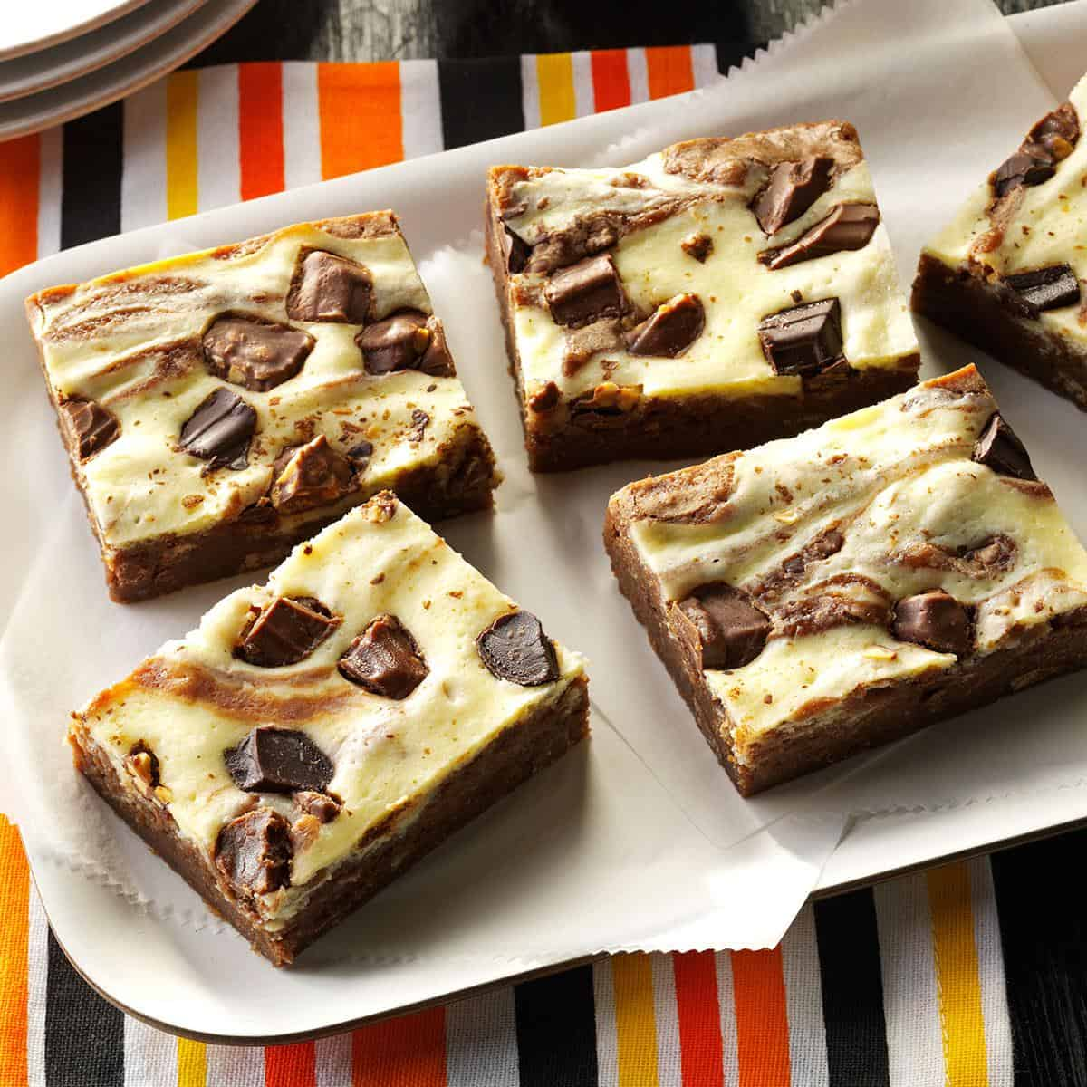 Candy bar cheesecake brownies