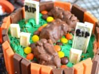 Candy bar graveyard Halloween cake 200x150 Dark Treats: Homemade Halloween Cake Recipes