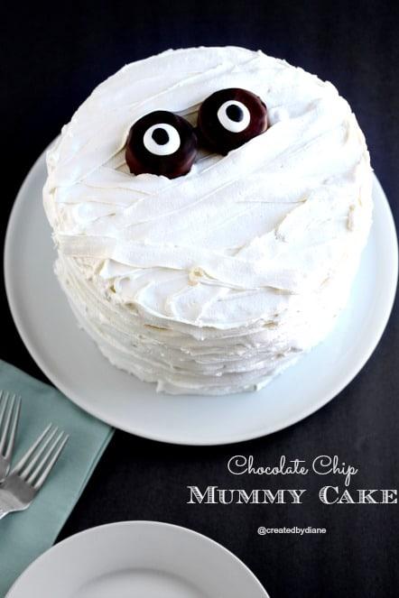Chocolate chip mummy cake