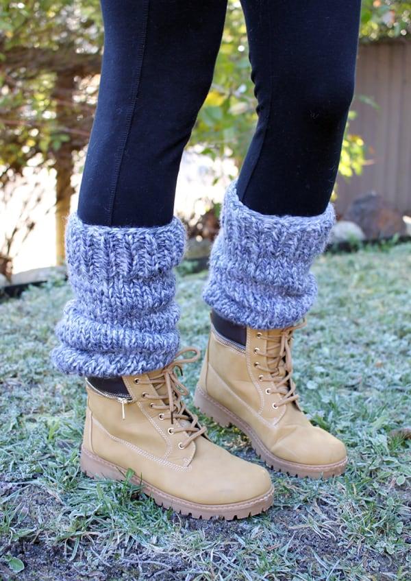 Chunky, slouchy leg warmers