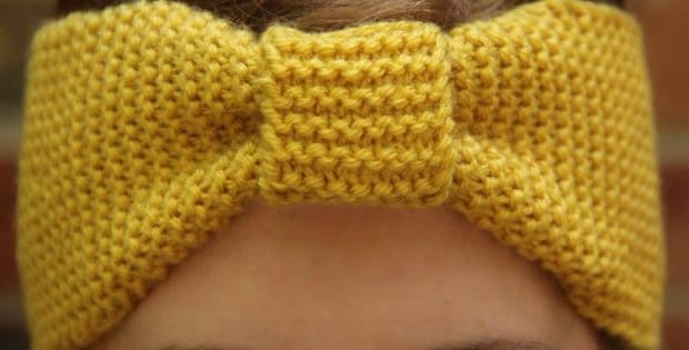 Cinched simple garter ear warmer