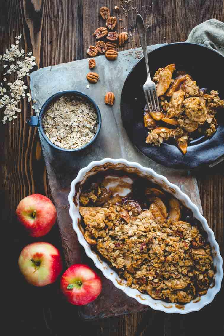 Classic maple apple crisp