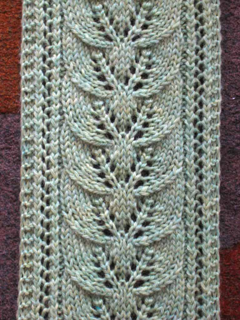 Column of Leaves scarf