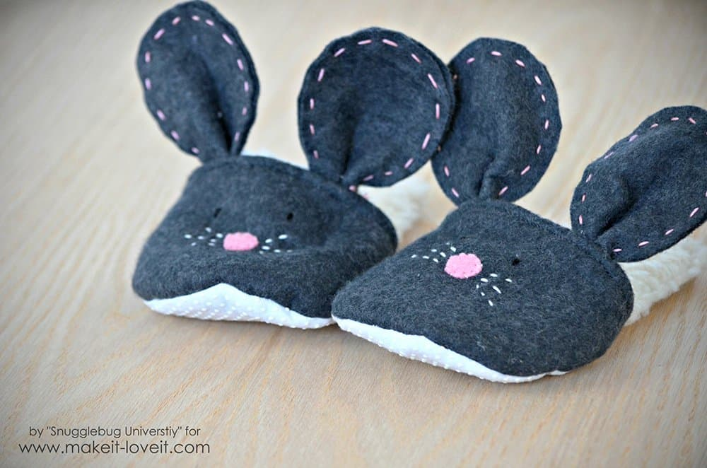 Comfy bunny slippers