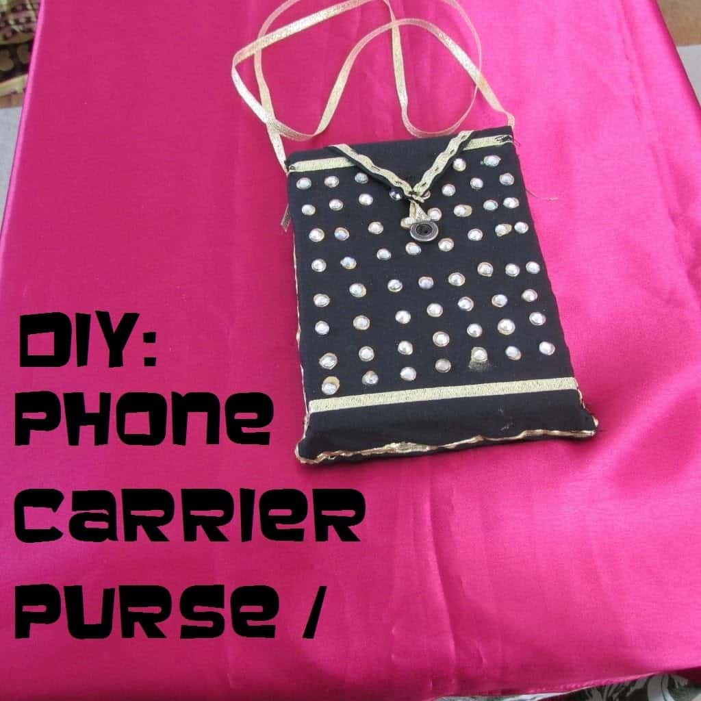 Cool studded phone purse