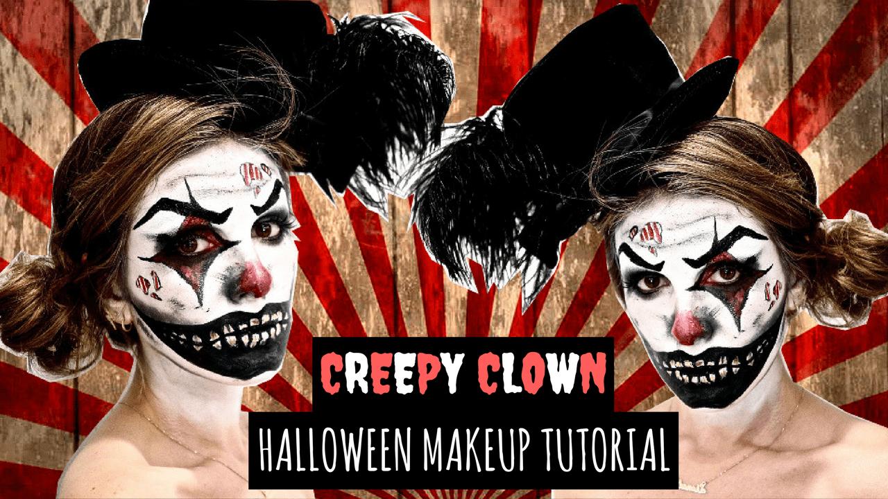 Creepy clown smile makeup