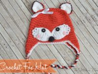 Crochet Fox hat 200x150 Ultra Cute Fashion Statement: 15 Novelty Crocheted Fall Hats for Kids