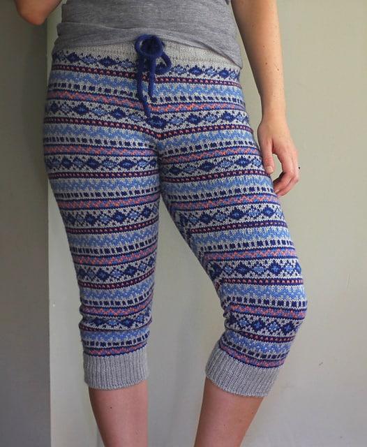 Cropped Fair Isle pants