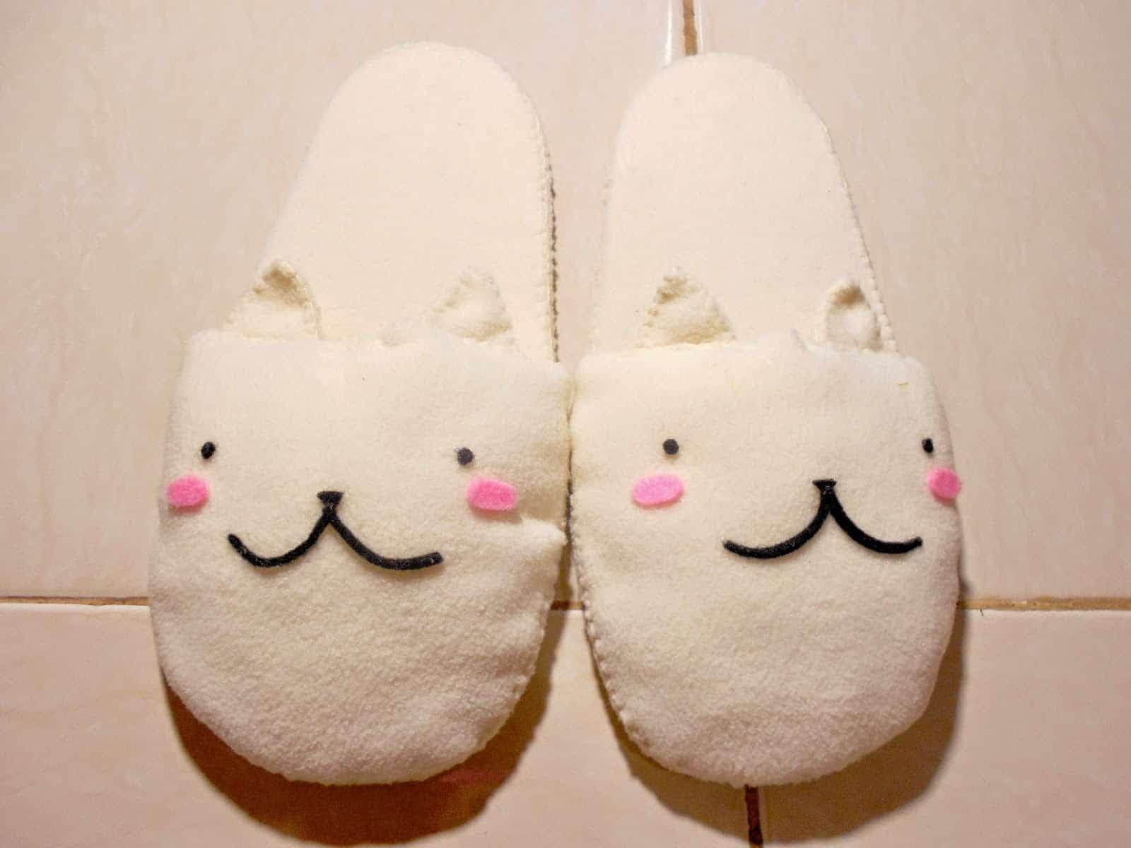 DIY Sakura inspired slippers