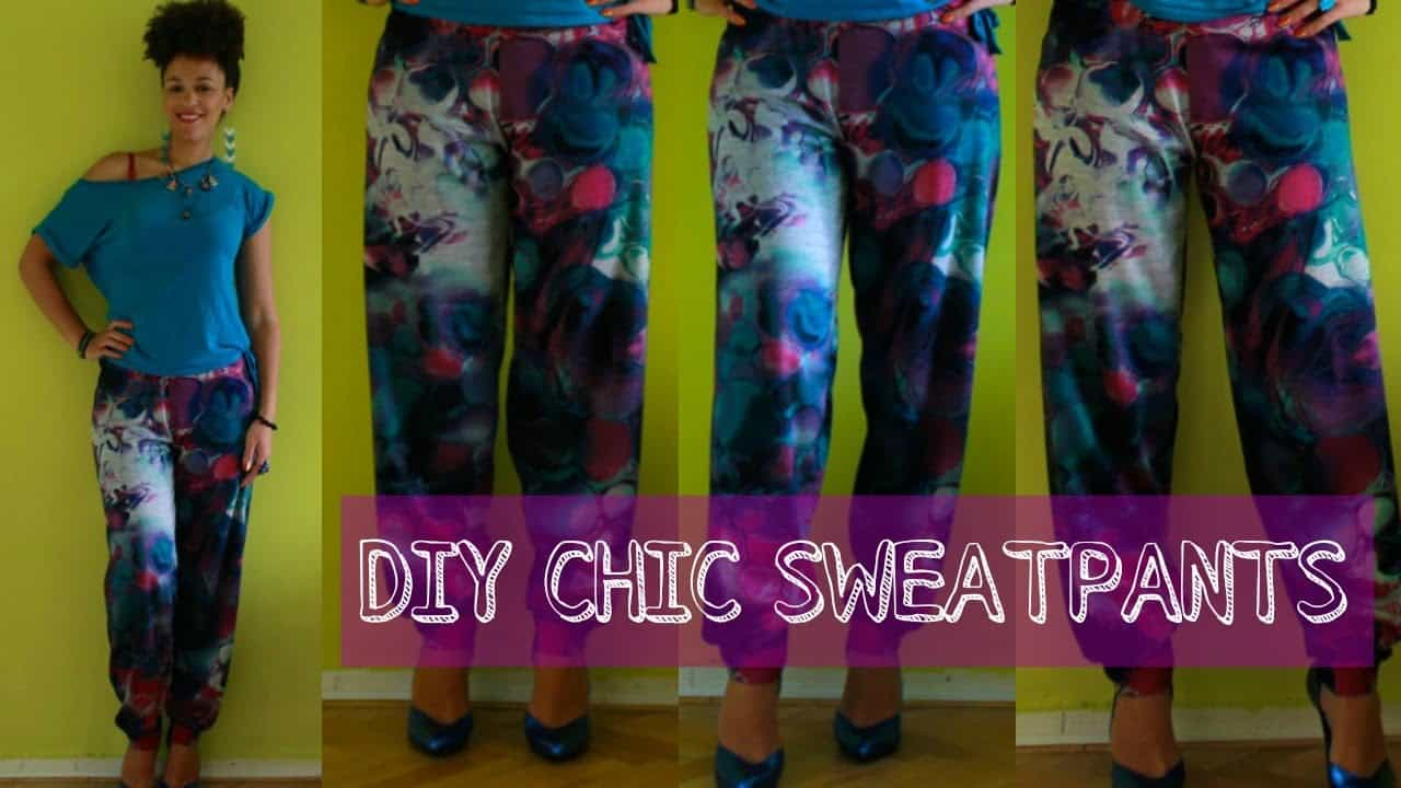 DIY chic sweatpants