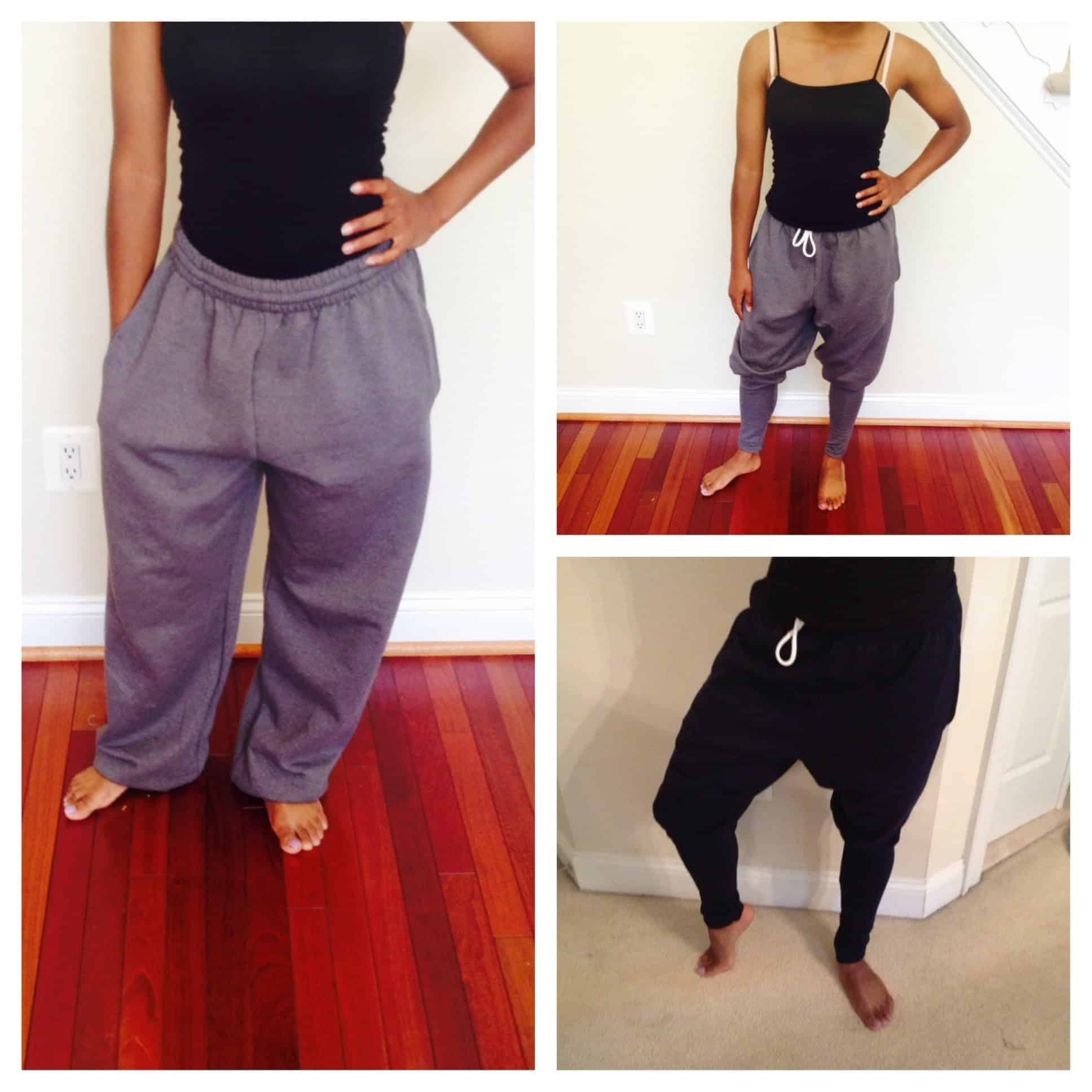 DIY harem sweatpants 15 Warm DIY Sweatpants for Fall