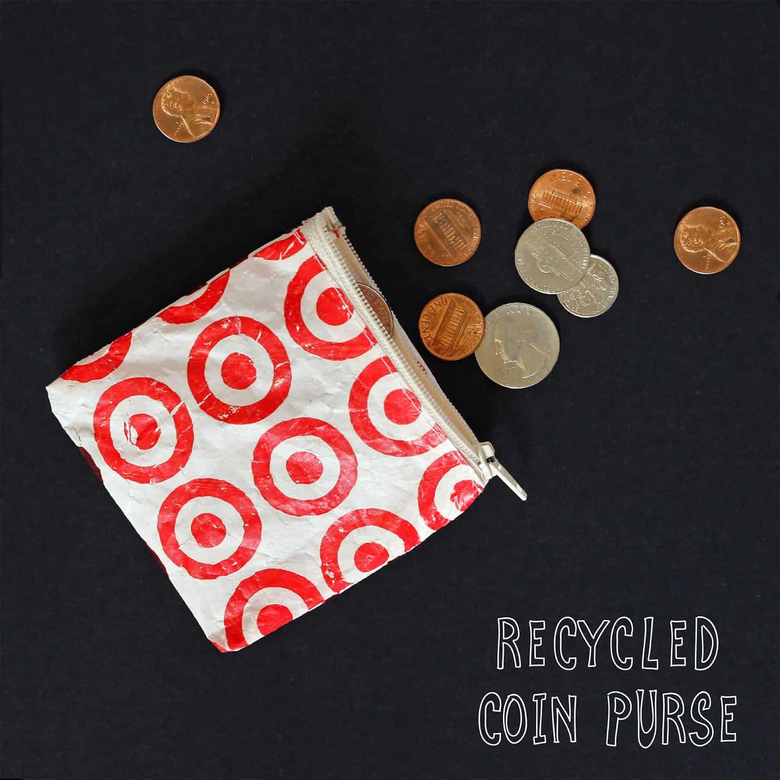 DIY plastic bag coin purse