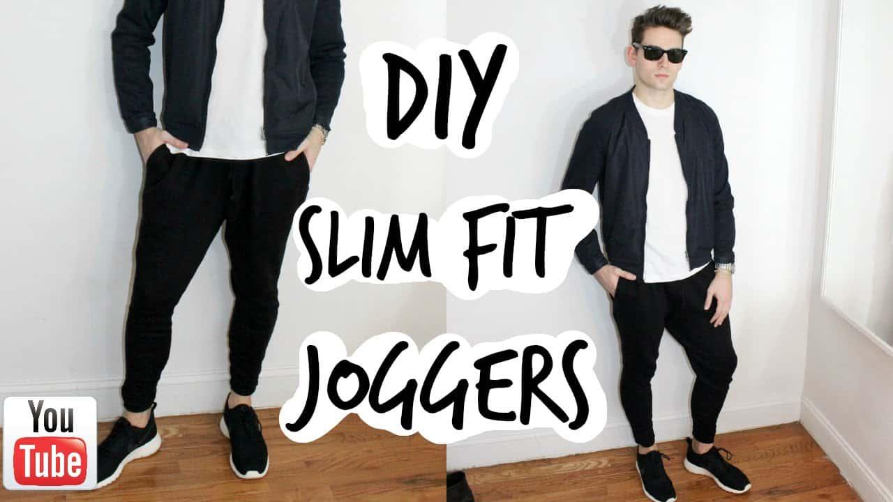 DIY slim fit joggers