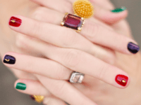 Deep jewel tones with gold accents 200x150 Fitting in with the Seasonal Trends: Best Nail Art for Fall!