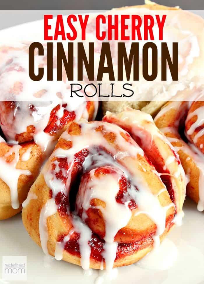 Easy cherry cinnamon rolls
