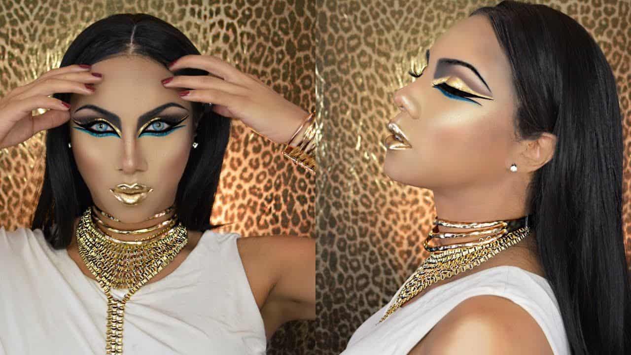 Egyptian goddess makeup