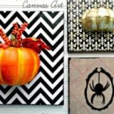15 DIY Halloween Canvas Crafts