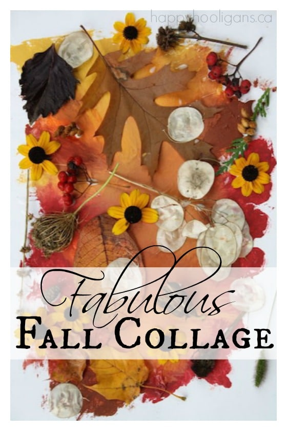Fabulous fall leaf collage