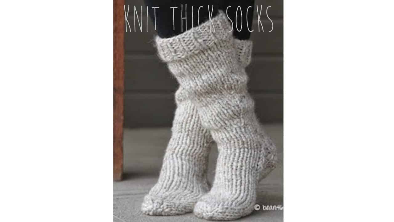 Fast and easy thick socks